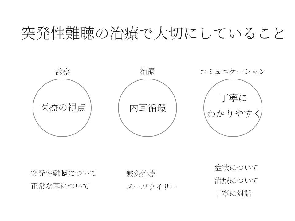 田中はり灸療院で大切にしている3つ「医療の視点」「内耳循環」「丁寧にわかりやすく」
