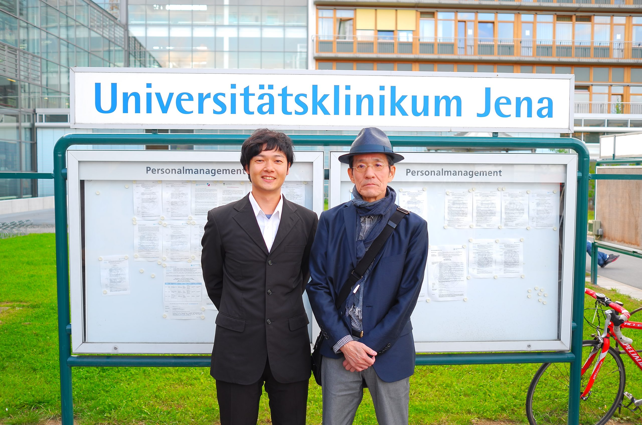 米山榮先生とドイツの講演前に記念撮影